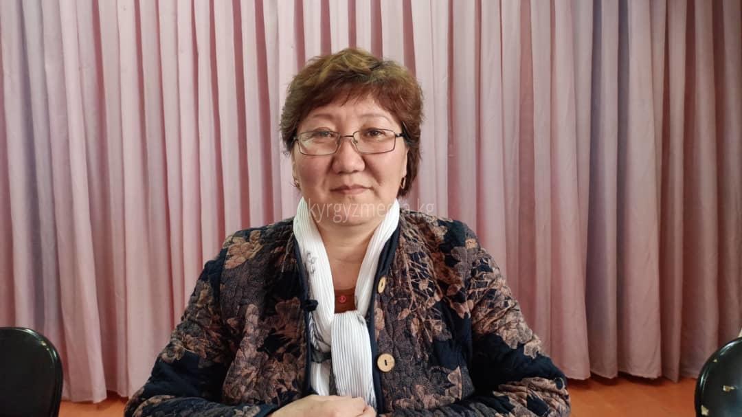 Баетов айылындагы №4091 шайлоо участогунун төрайымы Бактыгүл Мамытова