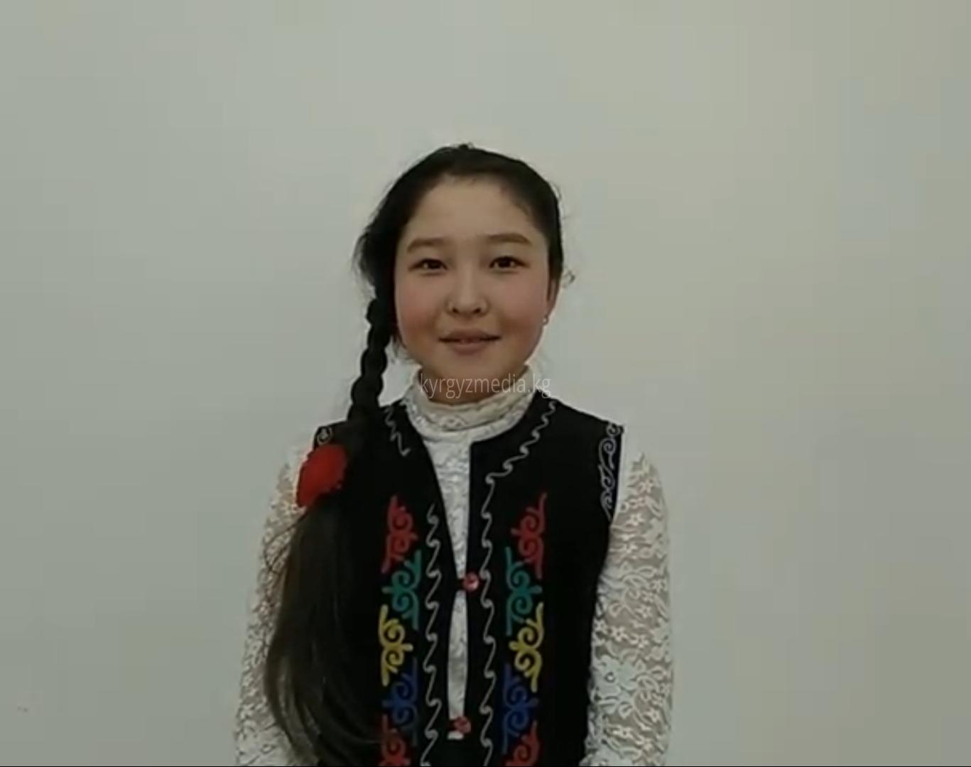 6-классынын окуучусу Танзиля Марлисбекова