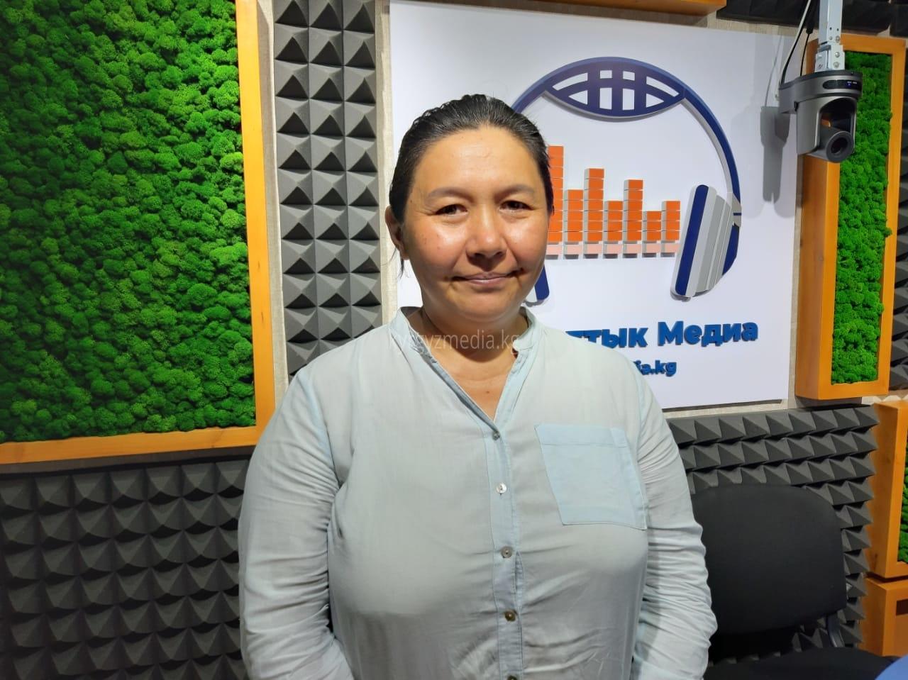 Кызыл-Туу айылындагы демилгелүү топтун координатору Азиза Сакенова